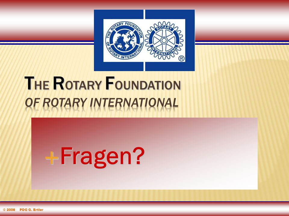 The Rotary Foundation of Rotary International Foundation eLearning 2005  Fragen.