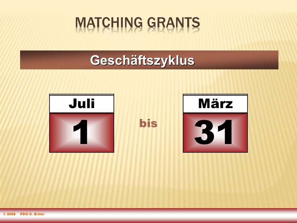 Geschäftszyklus Juli 1 bis März 31 © 2008 PDG G. Ertler