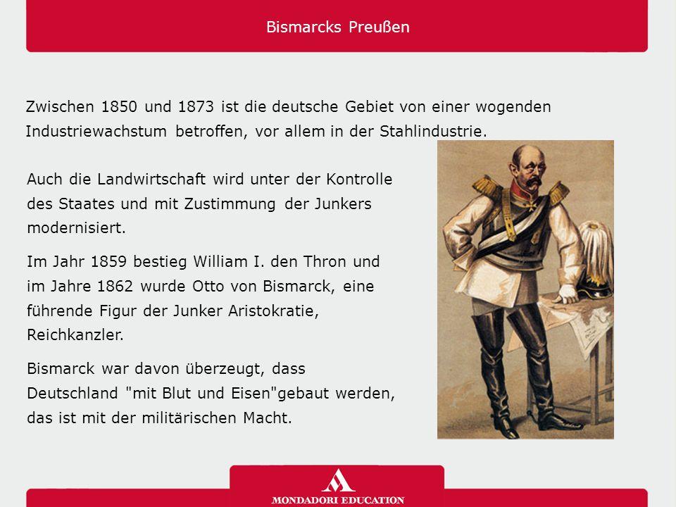 Bismarcks Preußen Zwischen 1850 und 1873 ist die deutsche Gebiet von einer wogenden Industriewachstum betroffen, vor allem in der Stahlindustrie. Auch