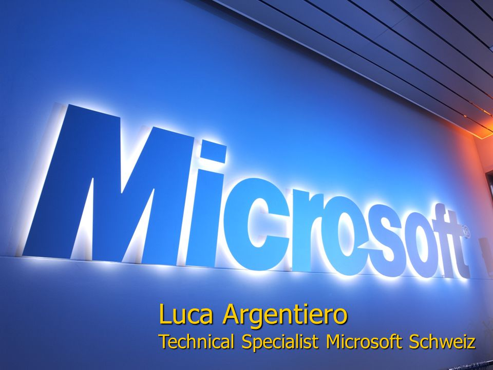Luca Argentiero Technical Specialist Microsoft Schweiz