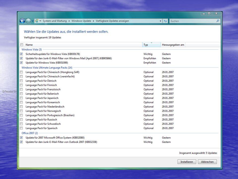 Erfasster Bildschirmausschnitt: 11.04.2007; 08:46