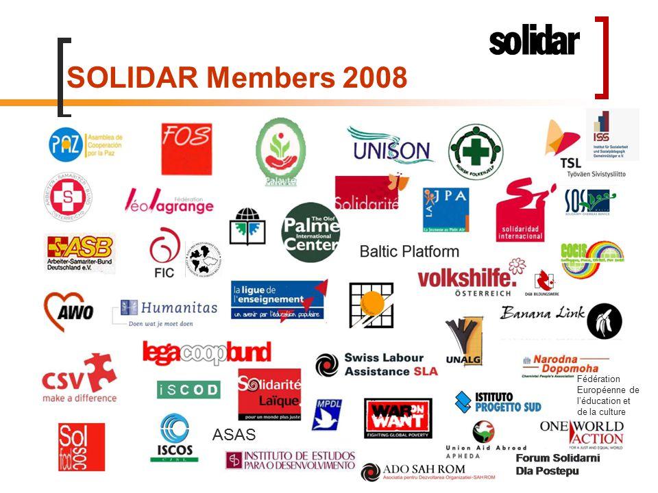 SOLIDAR Members 2008 ASAS Fédération Européenne de l'éducation et de la culture