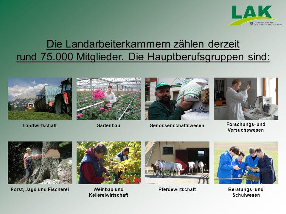 Die Landarbeiterkammern zählen derzeit rund 75.000 Mitglieder.