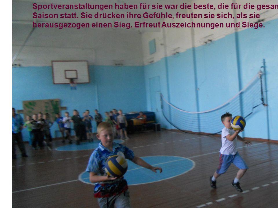 Sportveranstaltungen haben für sie war die beste, die für die gesamte Saison statt.
