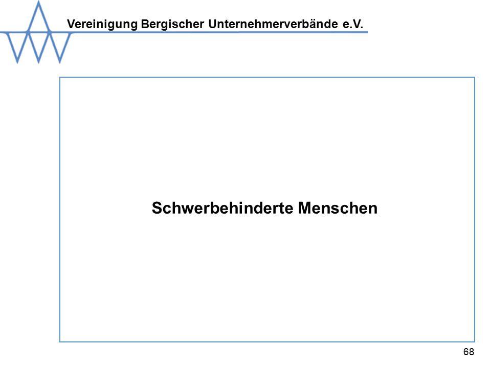 Vereinigung Bergischer Unternehmerverbände e.V. 68 Schwerbehinderte Menschen