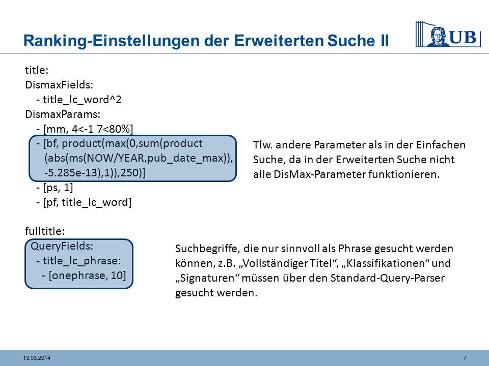 813.03.2014 Auswertung I https://fantasio.rz.uni-frankfurt.de/ubffm2