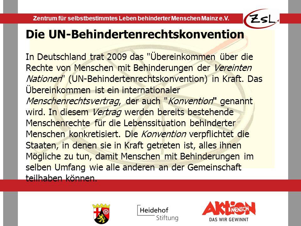 Zentrum für selbstbestimmtes Leben behinderter Menschen Mainz e.V.