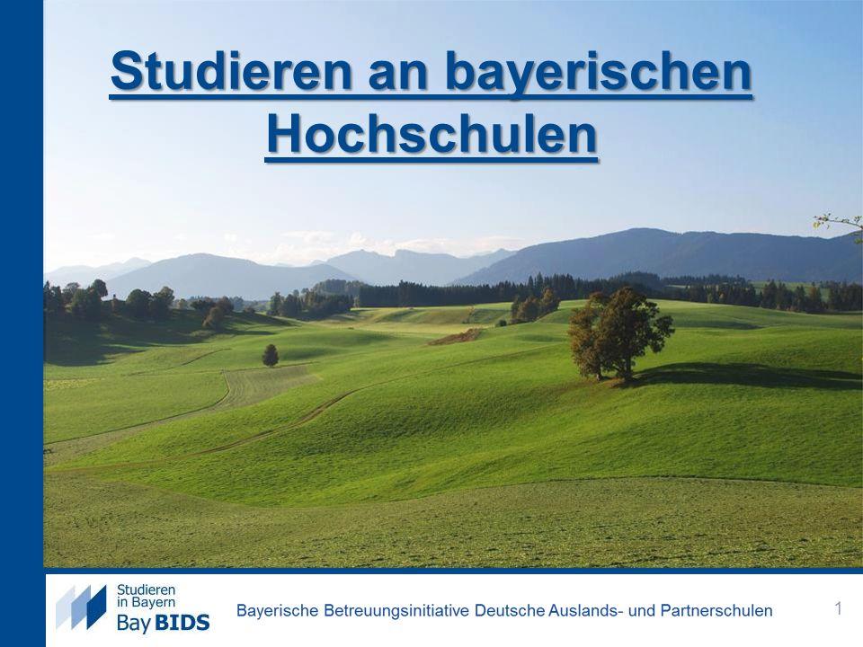 Studieren an bayerischen Hochschulen 1