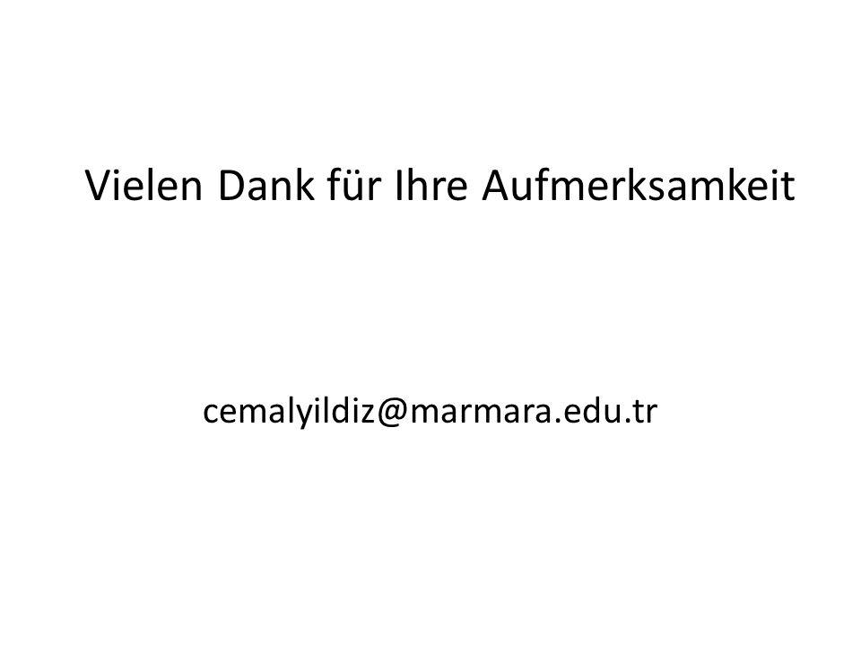 Vielen Dank für Ihre Aufmerksamkeit cemalyildiz@marmara.edu.tr
