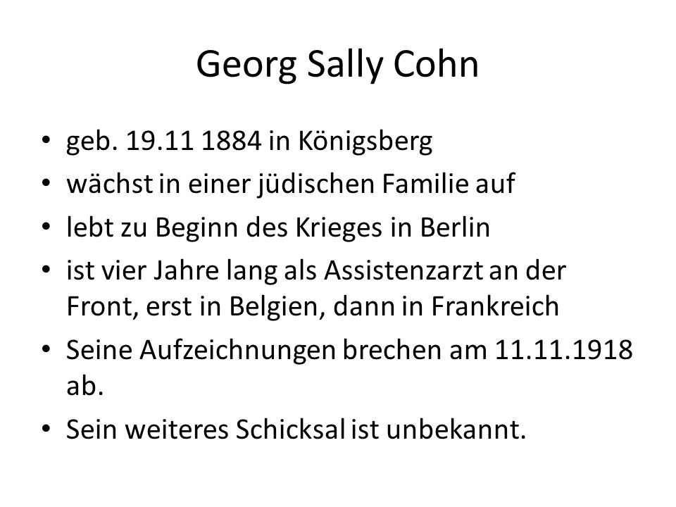 Georg Sally Cohn geb.