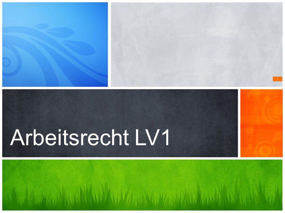 Arbeitsrecht LV1