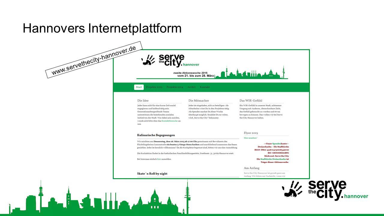 Hannovers Internetplattform www.servethecity-hannover.de