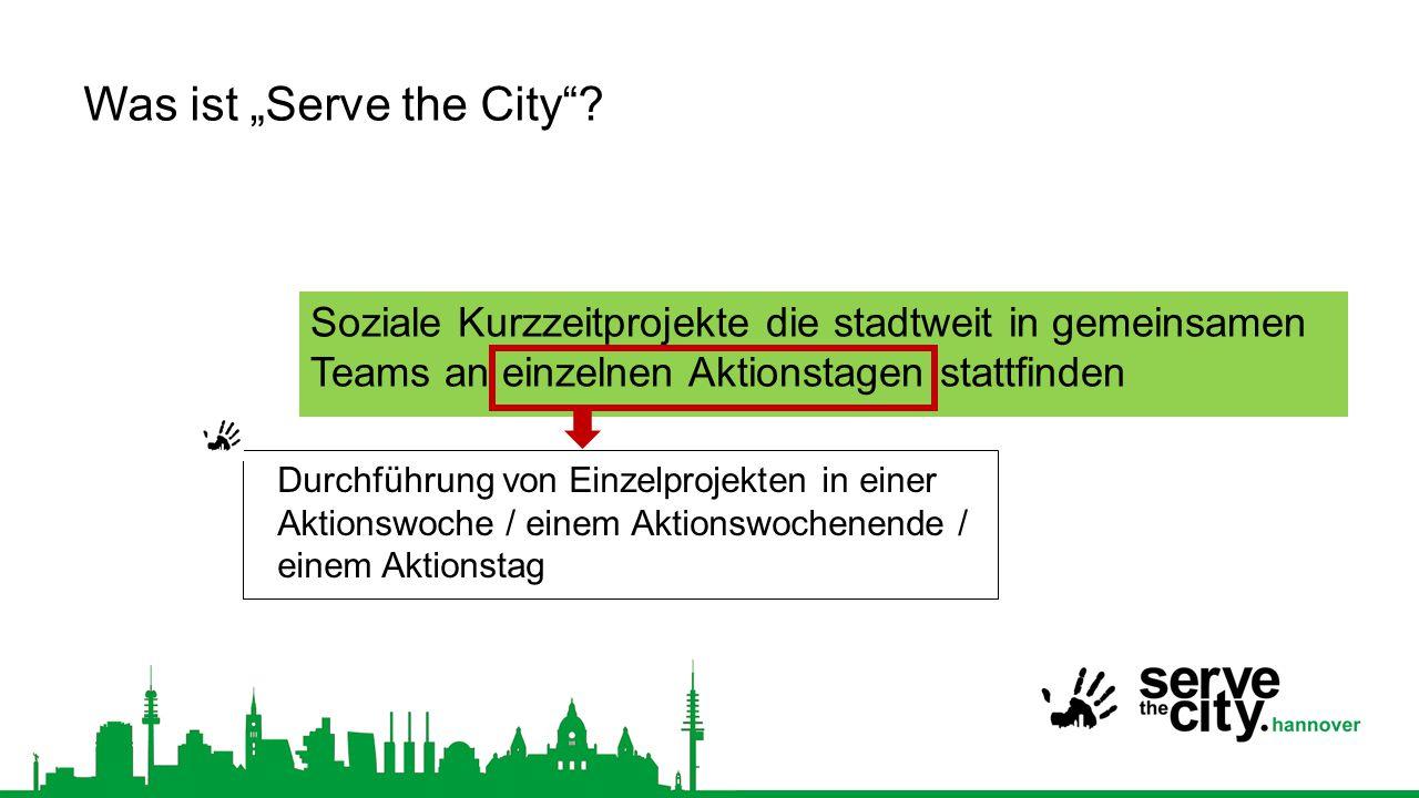 """Wo wird """"Serve the City bereits durchgeführt."""