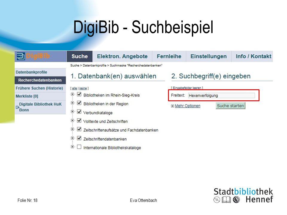 Eva Ottersbach Folie Nr. 18 DigiBib - Suchbeispiel