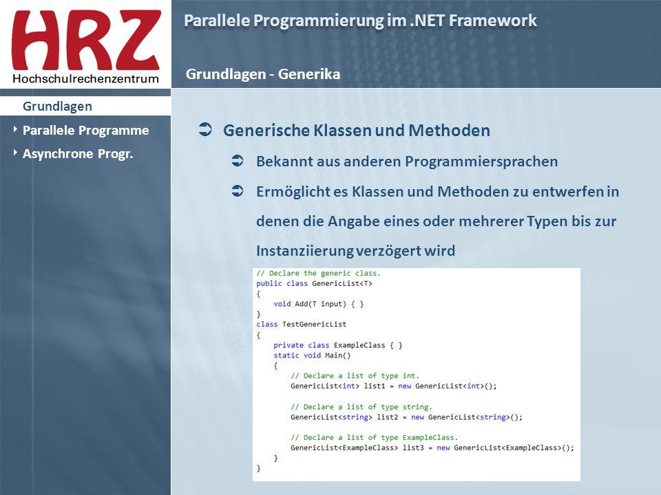 Parallele Programmierung im.NET Framework Asynchrone Programmierung  Asynchrone Programmierung  Await und Async Keywords  Code Beispiele..