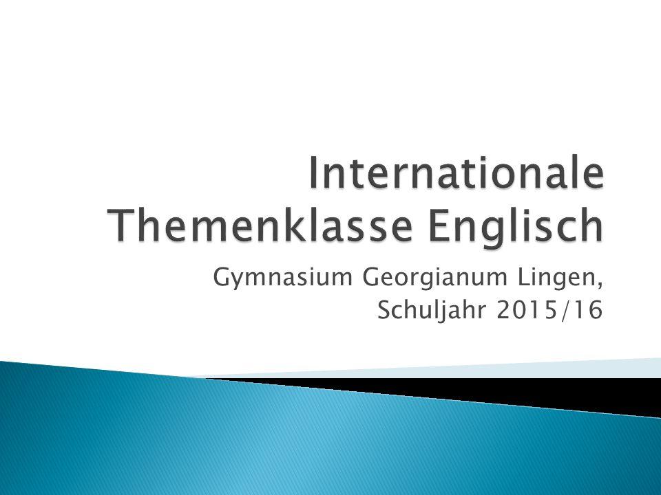 Gymnasium Georgianum Lingen, Schuljahr 2015/16
