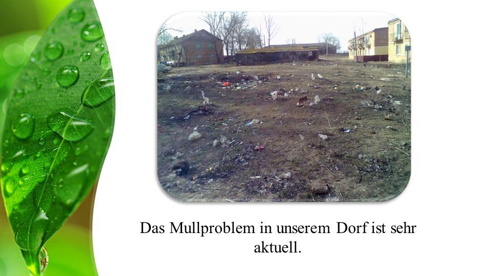 Das Mullproblem in unserem Dorf ist sehr aktuell.