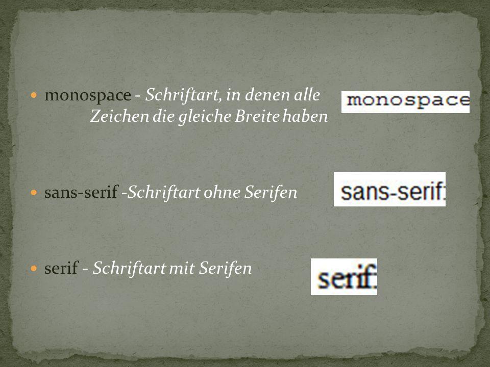 Ist ein Webfont, mit welchen man eine Schrift definieren kann. FontFace hat viele Eigenschaften: