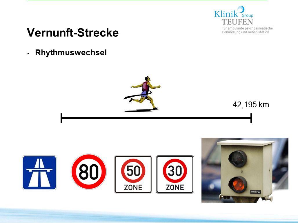 Vernunft-Strecke Rhythmuswechsel 42,195 km