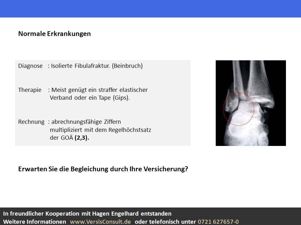 Diagnose : Isolierte Fibulafraktur.