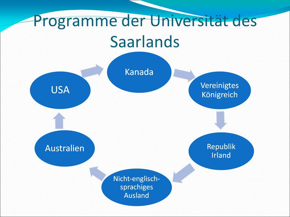 Programme der Universität des Saarlands