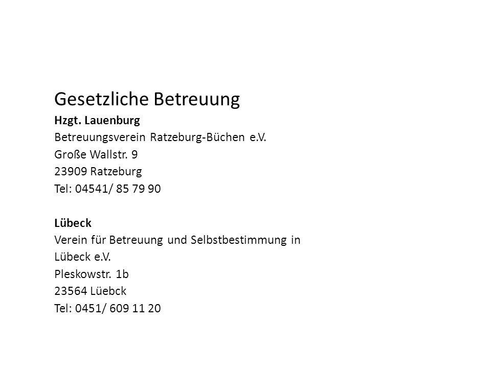 Gesetzliche Betreuung Hzgt.Lauenburg Betreuungsverein Ratzeburg-Büchen e.V.