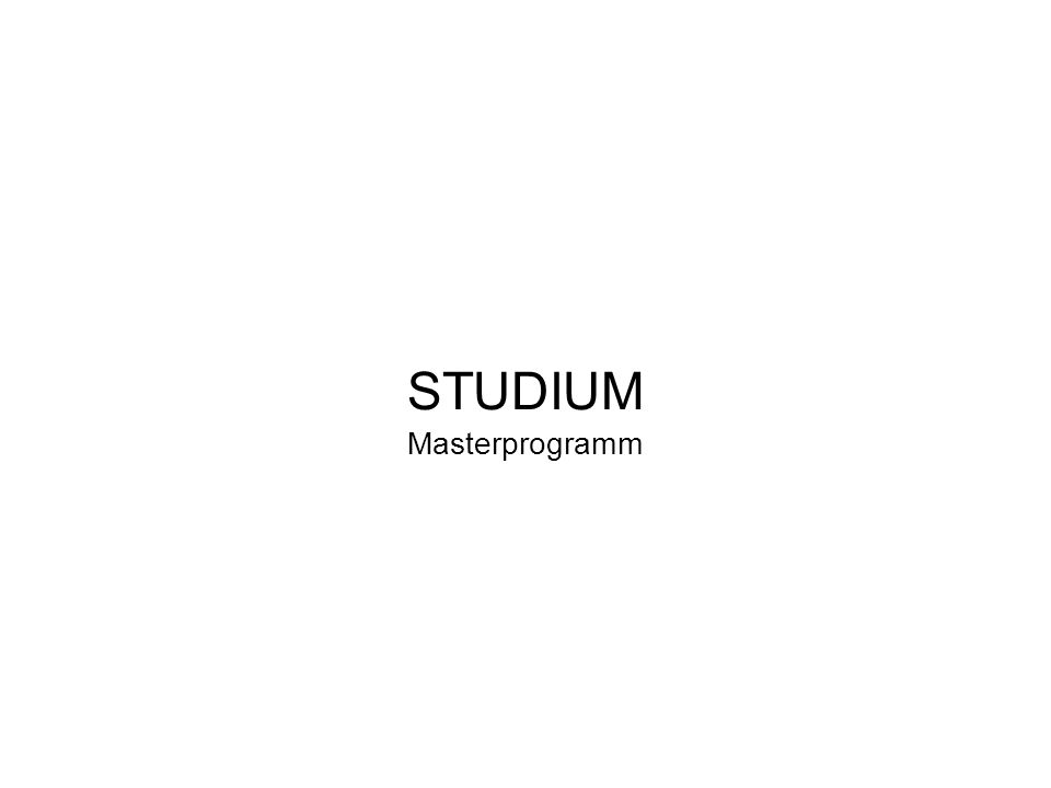STUDIUM Masterprogramm