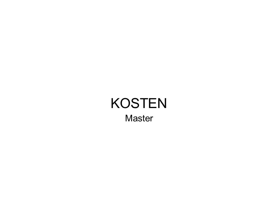 KOSTEN Master