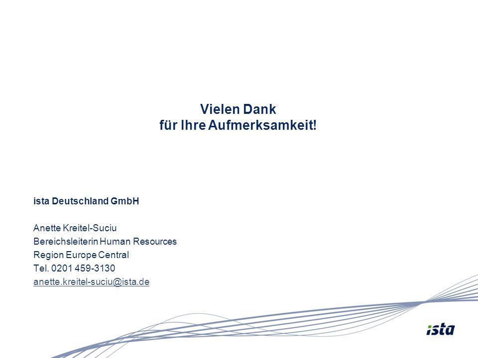 ista Deutschland GmbH Anette Kreitel-Suciu Bereichsleiterin Human Resources Region Europe Central Tel. 0201 459-3130 anette.kreitel-suciu@ista.de Viel