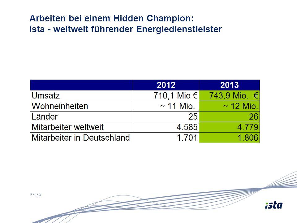 Folie 3 Arbeiten bei einem Hidden Champion: ista - weltweit führender Energiedienstleister