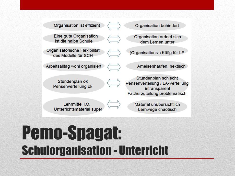 Pemo-Spagat: Schulorganisation - Unterricht