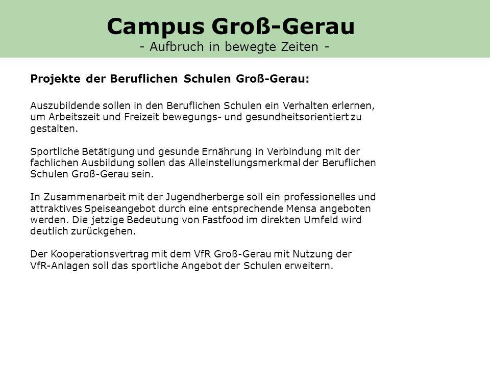Projekte der Beruflichen Schulen Groß-Gerau: Auszubildende sollen in den Beruflichen Schulen ein Verhalten erlernen, um Arbeitszeit und Freizeit bewegungs- und gesundheitsorientiert zu gestalten.