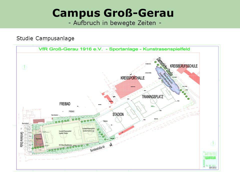 Baufenster Jugendherberge Studie Campusanlage Campus Groß-Gerau - Aufbruch in bewegte Zeiten -