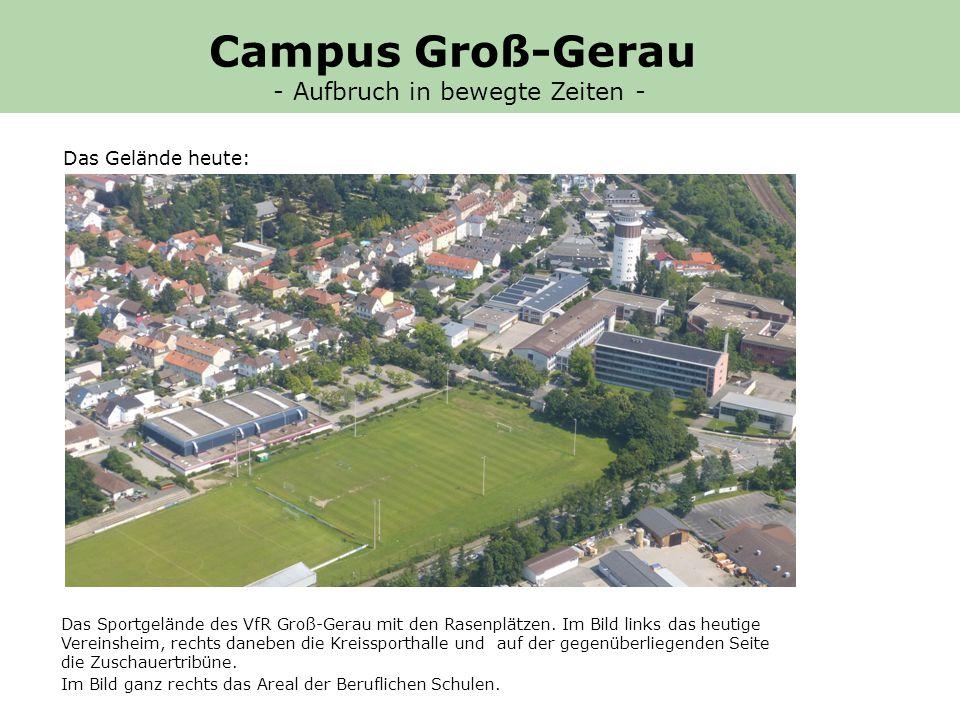 Das Sportgelände des VfR Groß-Gerau mit den Rasenplätzen.