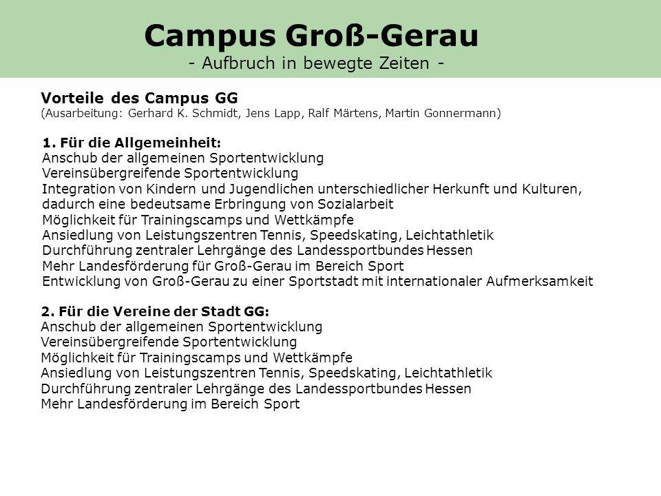 3.Für die Kreisstadt Groß-Gerau: Mehreinnahmen an Gewerbesteuer Mehreinnahmen von ca.