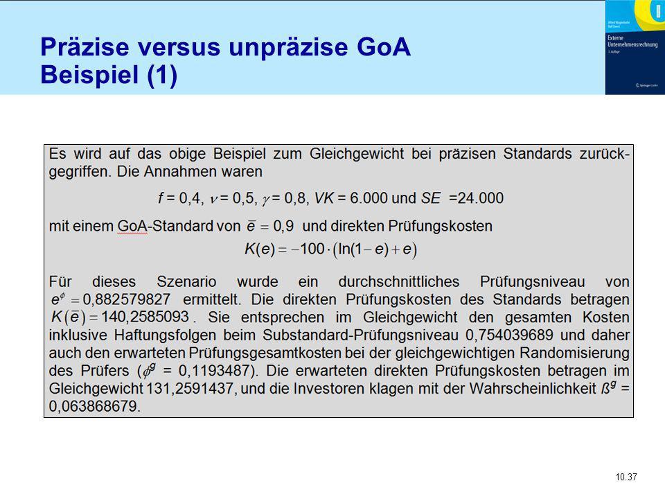 10.37 Präzise versus unpräzise GoA Beispiel (1)