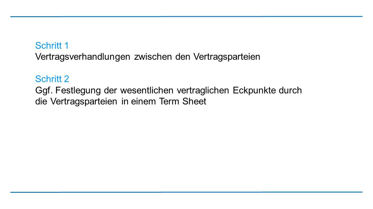 Schritt 3 Entwicklung eines Exportvertrags auf der Grundlage des Term Sheet oder Erstellung eines Exportvertrags ohne vorherige Erstellung eines Term Sheet Hinweis: kein kaufmännisches Bestätigungsschreiben nach ausländischen Rechtsordnungen