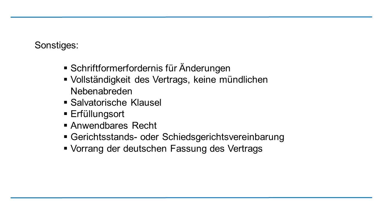Gegenüberstellung des Kaufvertrags in deutscher und englischer Textfassung Achtung.