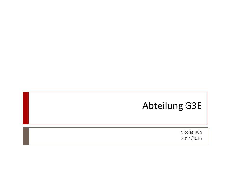 Abteilung G3E Nicolas Ruh 2014/2015