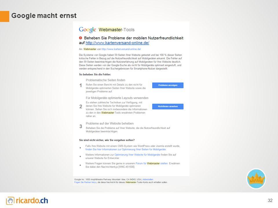 Google macht ernst 32