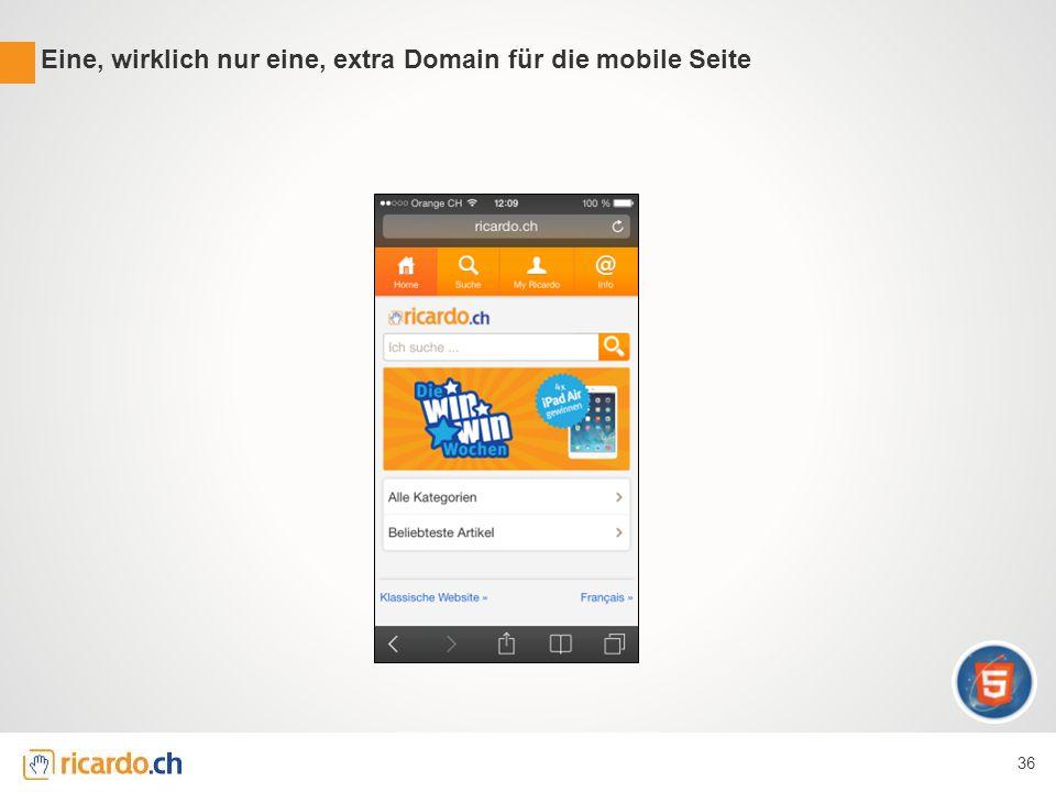 Eine, wirklich nur eine, extra Domain für die mobile Seite 36