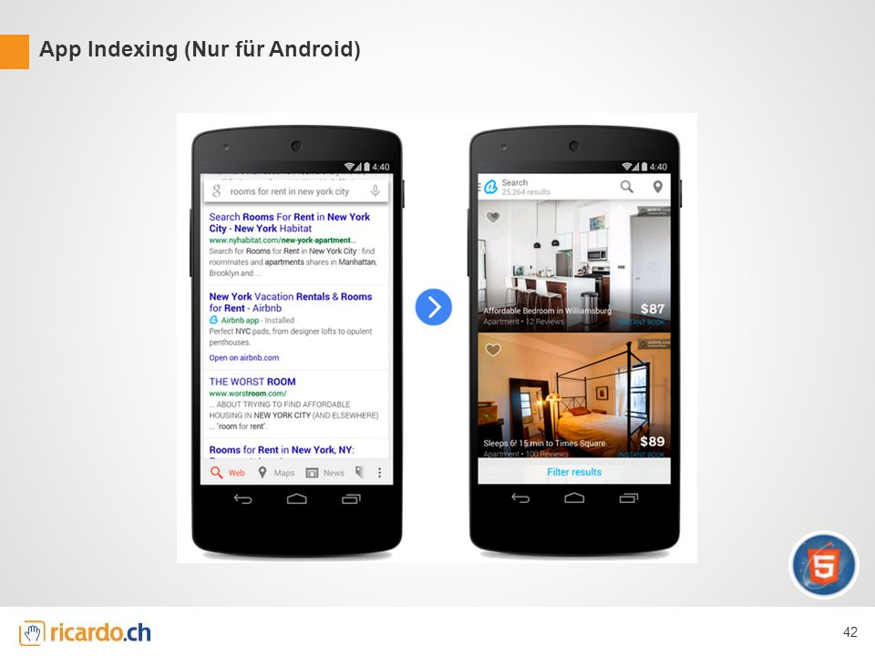 App Indexing (Nur für Android) 42