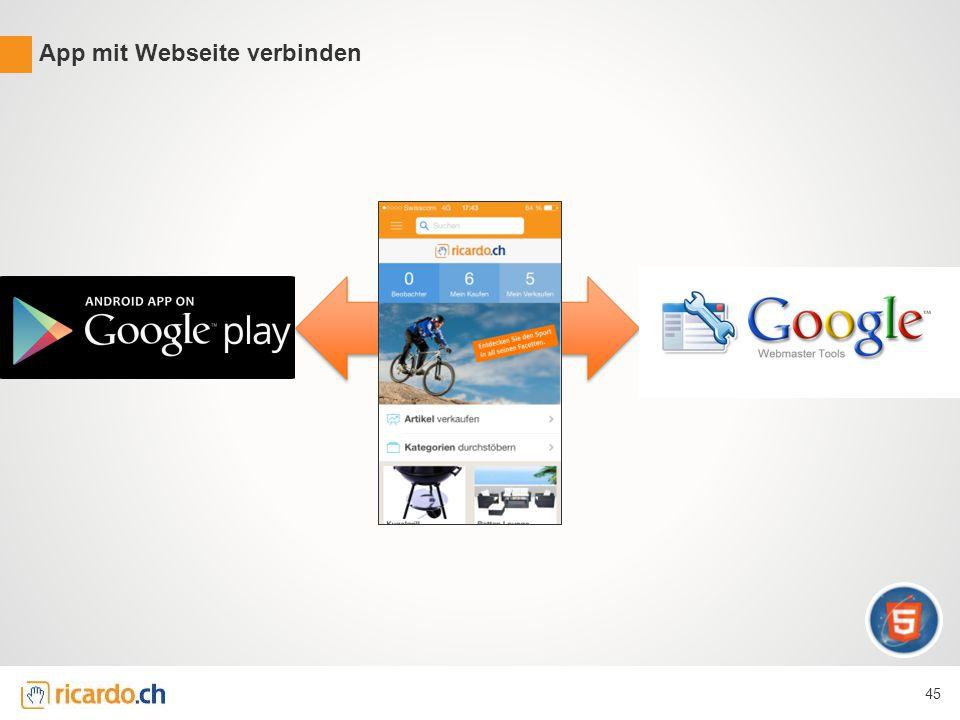 App mit Webseite verbinden 45
