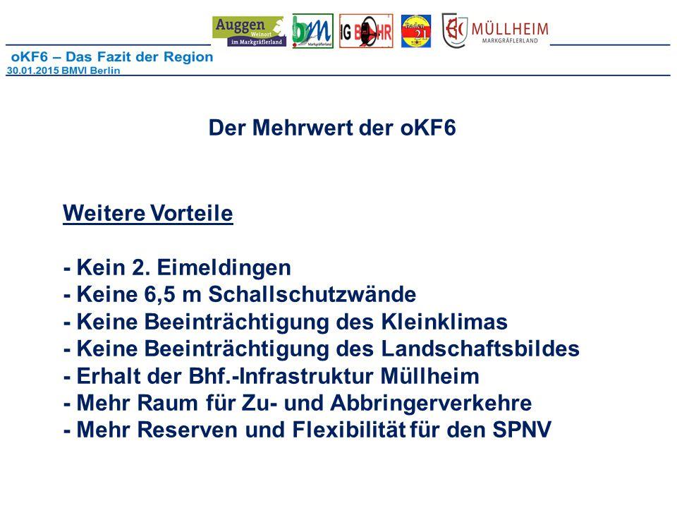 Der Mehrwert der oKF6 Weitere Vorteile - Kein 2.