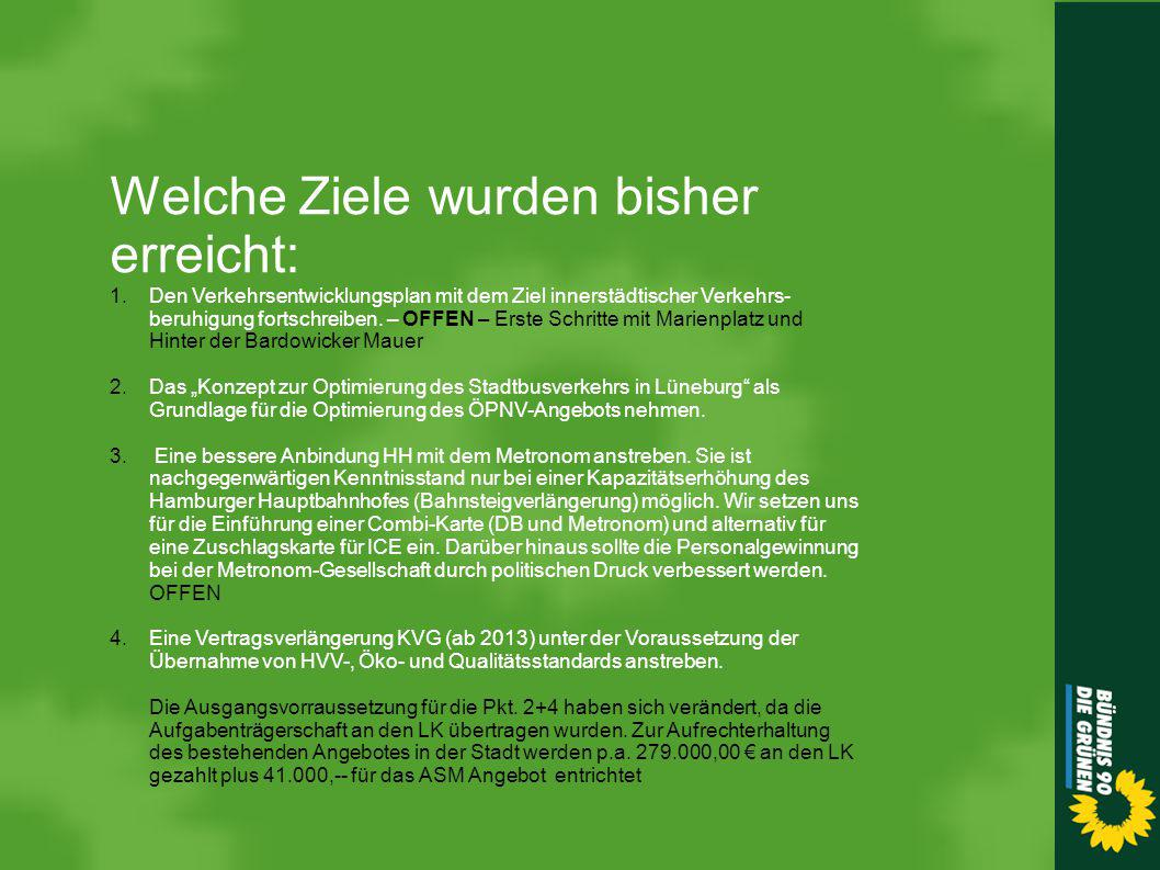 """5.Die Umsetzung des """"Radverkehrskonzept Lüneburg 2015 fortsetzen."""