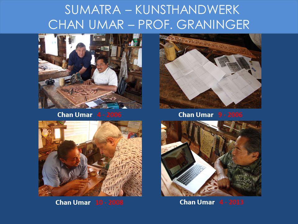 Chan Umar 9 - 2006 Chan Umar 4 - 2013 Chan Umar 10 - 2008 Chan Umar 4 - 2006 SUMATRA – KUNSTHANDWERK CHAN UMAR – PROF. GRANINGER