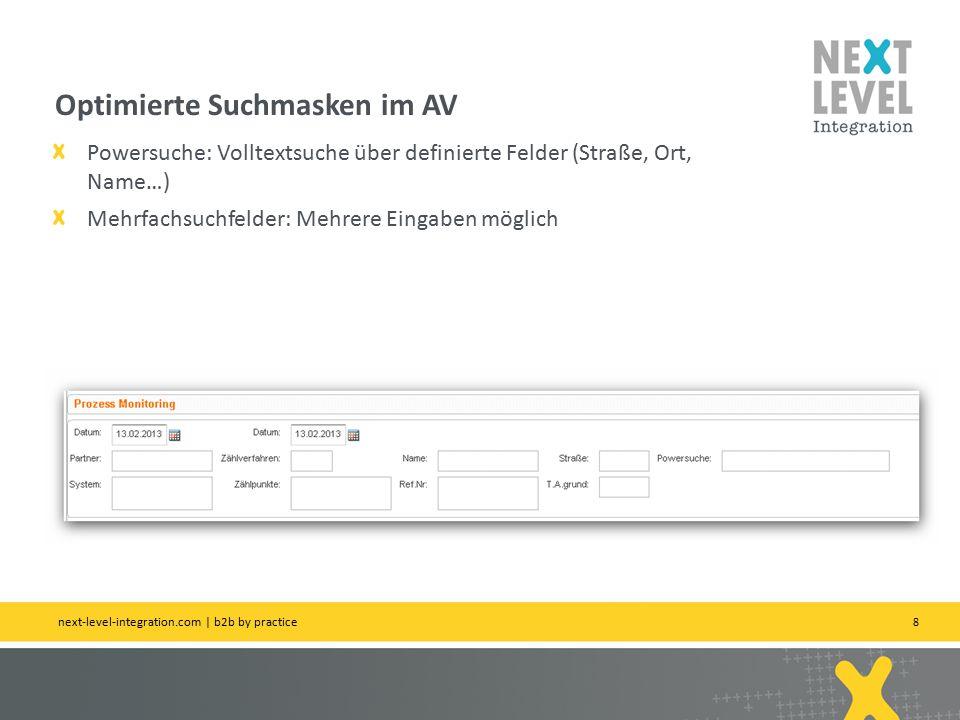 9 Anpassung zum Aperak-Handling AperakAction 2.1 Anpassung Aussteuerung M / V Formatwechsel 01.04.2013 next-level-integration.com | b2b by practice