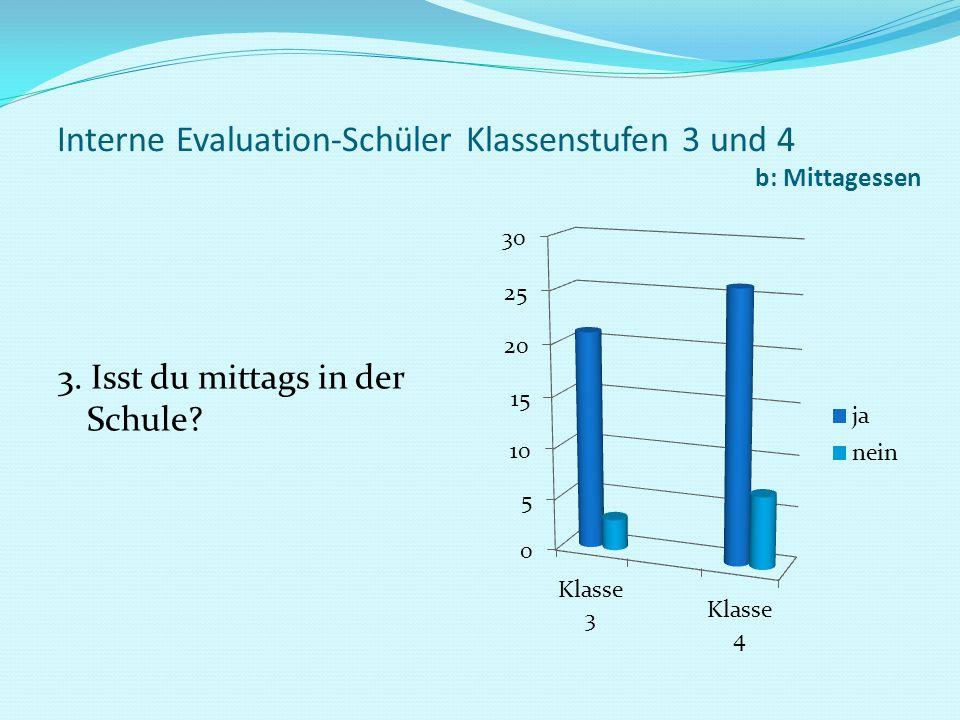 Interne Evaluation-Schüler Klassenstufen 3 und 4 b: Mittagessen 4.