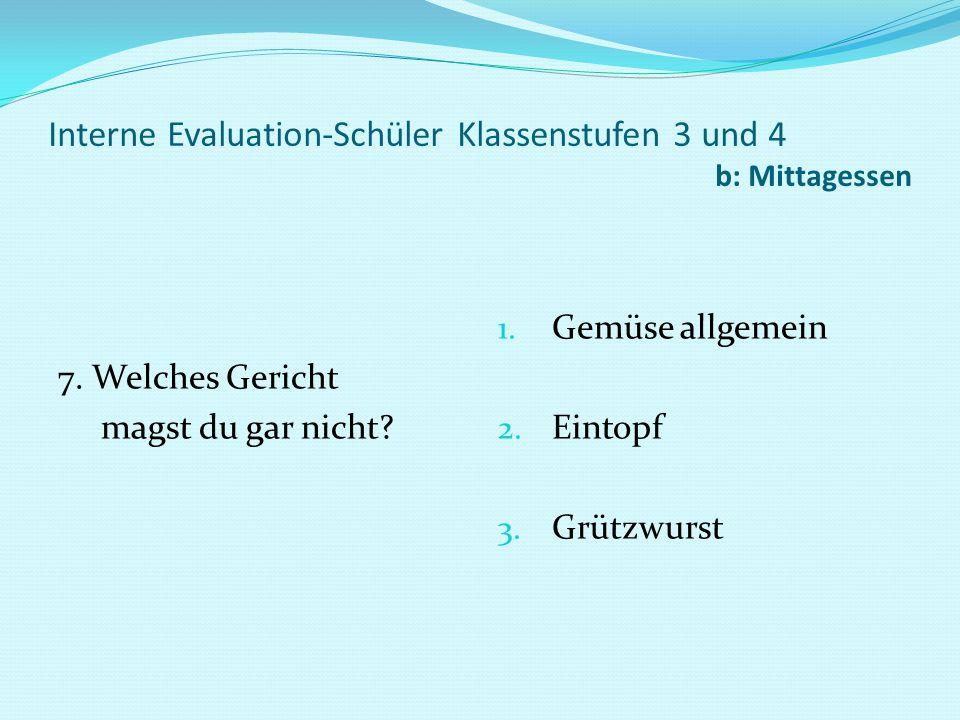Interne Evaluation-Schüler Klassenstufen 3 und 4 b: Mittagessen 8.
