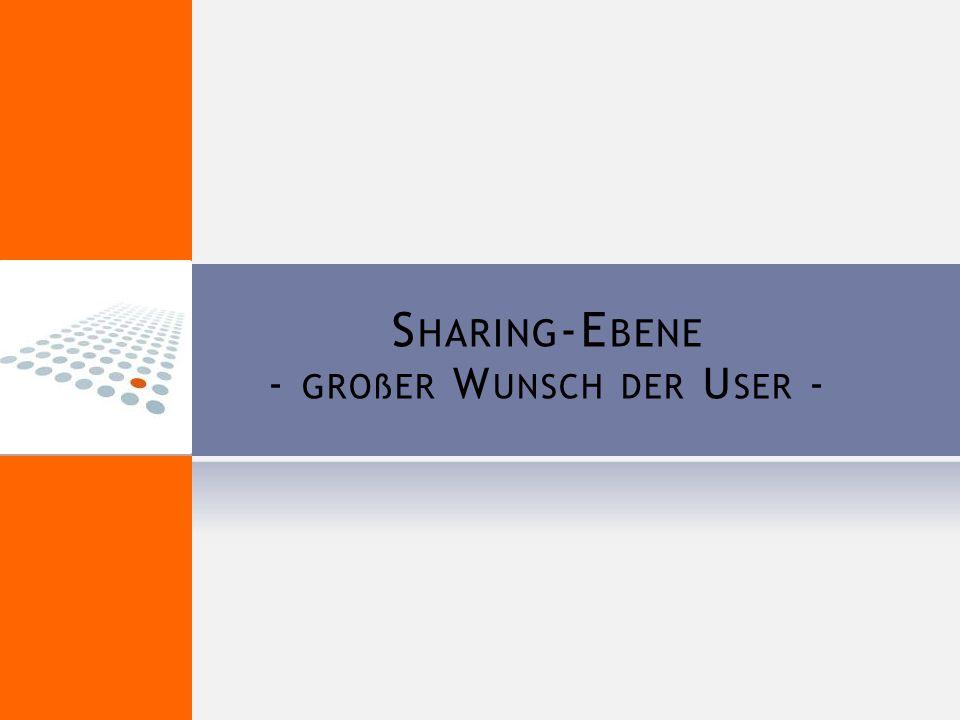 S HARING -E BENE - GROßER W UNSCH DER U SER -